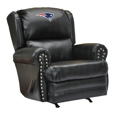 Leather Manual Recliner NFL Team: New England Patriots