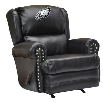 Leather Manual Recliner NFL Team: Philadelphia Eagles