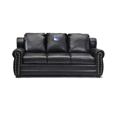 NHL Coach Leather Sofa NHL Team: New York Rangers�