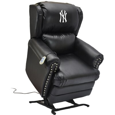 Baseball Power Lift Assist Recliner MLB Team: New York Yankees
