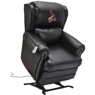 Baseball Power Lift Assist Recliner MLB Team: St. Louis Cardinals