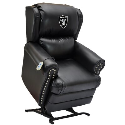 Football Power Lift Assist Recliner NFL Team: Oakland Raiders