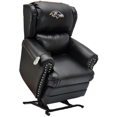 Football Power Lift Assist Recliner NFL Team: Baltimore Ravens