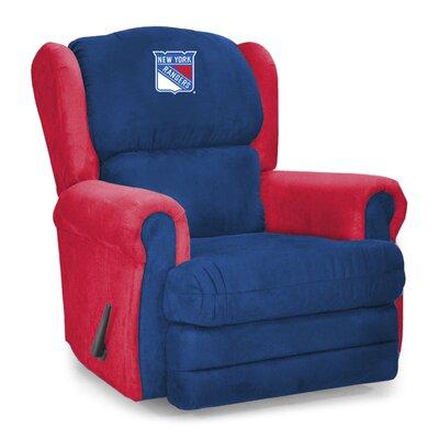 Coach Microfiber Recliner NHL Team: New York Rangers�