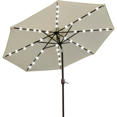 9 Abia Solar 40 LED Illuminated Umbrella Color: Ecru