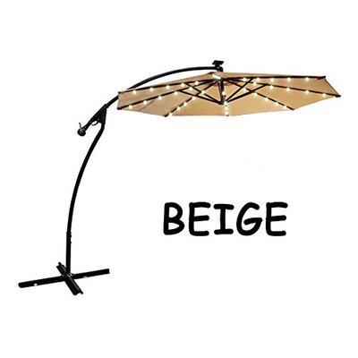 9 Chaparro Solar Powered LED Lights Illuminated Umbrella Color: Beige