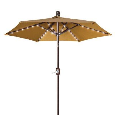 Hardman 6.5 Battery Patio 54 LED Lighted Illuminated Umbrella Fabric: Tan