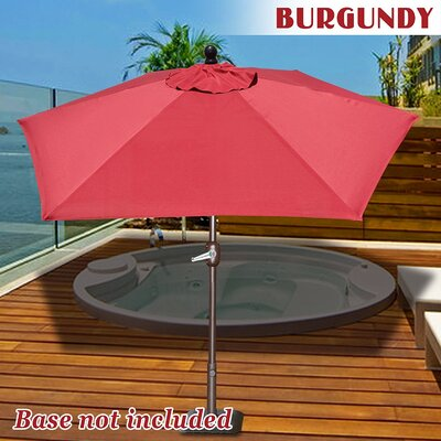 Eldora 8 Market Umbrella Fabric Color: Burgundy