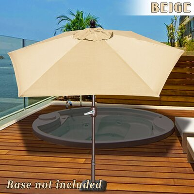Eldora 8 Market Umbrella Fabric Color: Beige