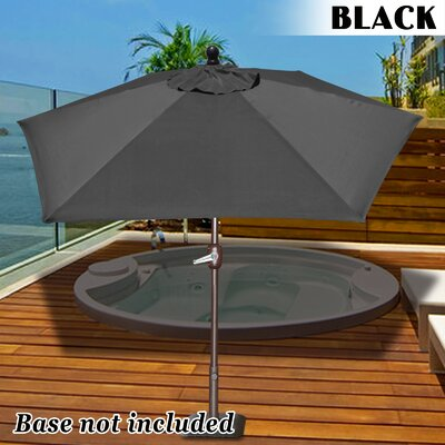 Eldora 8 Market Umbrella Fabric Color: Black