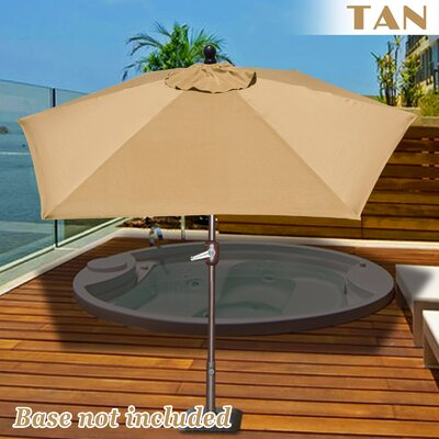 Eldora 8 Market Umbrella Fabric Color: Tan