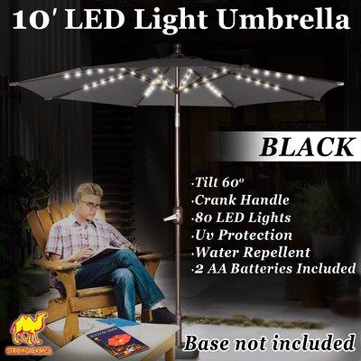 Ekstrom 10 Market Umbrella Fabric Color: Black
