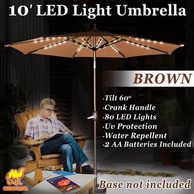 Ekstrom 10 Market Umbrella Fabric Color: Brown