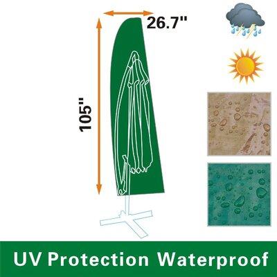 Protective Winter Furniture Protector Umbrella Cover Color: Green