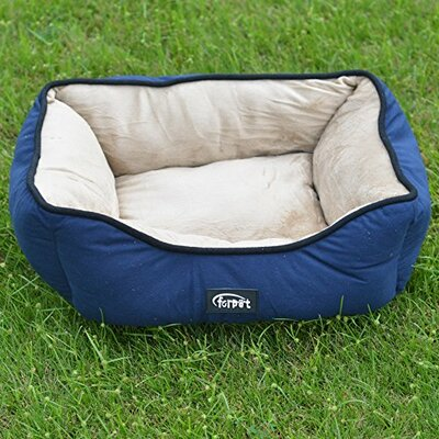 Soft Fleece Warm Bolster Size: 7.09 H x 18.9 W X 23.62 D, Color: Blue