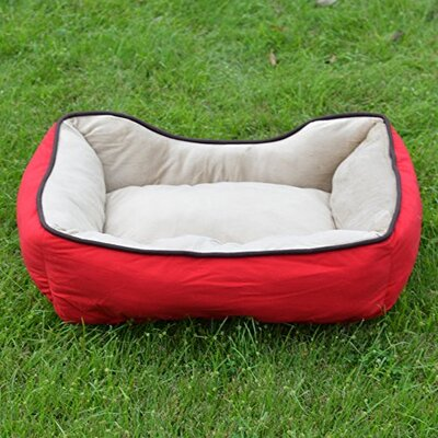 Soft Fleece Warm Bolster Size: 7.09 H x 18.9 W X 23.62 D, Color: Red