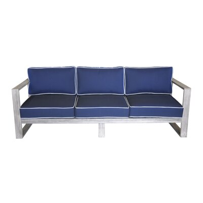 Asther Modern Outdoor 3 Seater Sofa with Cushions