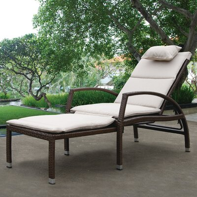 Mauricio Chaise Lounge with Cushion Finish: Brown