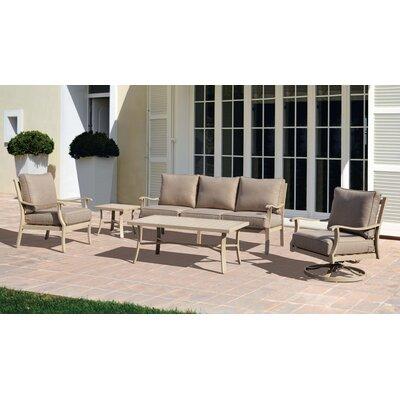 Caressa Aluminum Outdoor Deep Seating Group with Cushion
