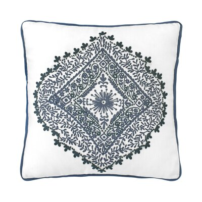 Walters Medallion 100% Linen Throw Pillow