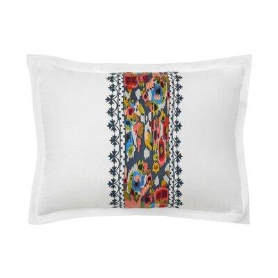 Walters Ikat Floral 100% Linen Throw Pillow