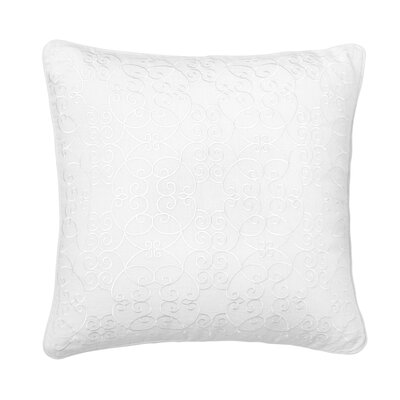 Amery Allover Scroll 100% Linen Throw Pillow