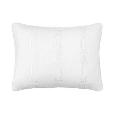 Amery Chain Link Embroidered 100% Linen Lumbar Pillow