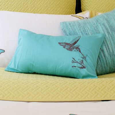 Ayers Hummingbird Toss 100% Cotton Lumbar Pillow
