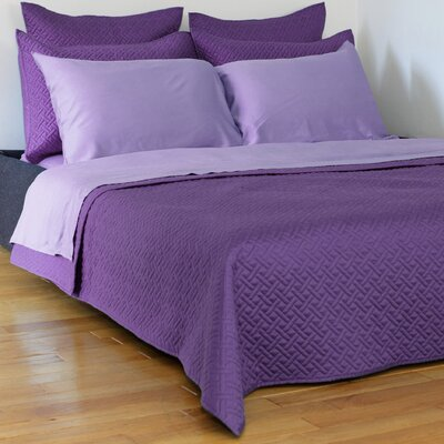 Lapointe Coverlet Size: Queen, Color: Purple
