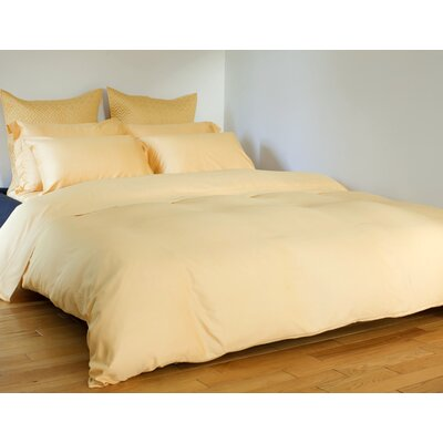 Edwina 4 Piece 350 Thread Count Sheet Set Size: King, Color: Cornsilk