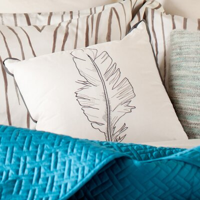 Dalila Feather Toss 100% Cotton Throw Pillow