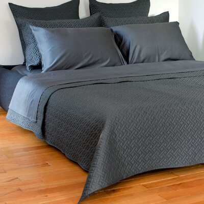 Lapointe Coverlet Size: King, Color: Pewter
