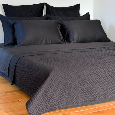 Lapointe Coverlet Size: King, Color: Black