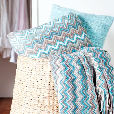 Hays Toss 100% Cotton Throw Pillow Color: Blue