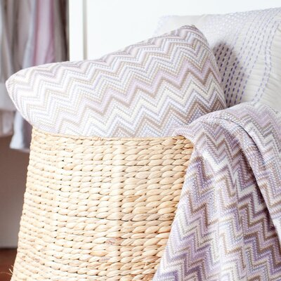 Hays Toss 100% Cotton Throw Pillow Color: Purple
