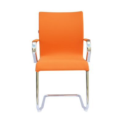 Sharran Upholstered Guest Chair (Set of 2) Color: Orange