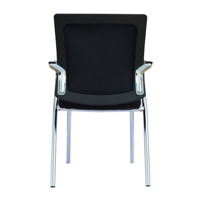 Soeren Guest Chair with Arms (Set of 2) Seat Color: Black