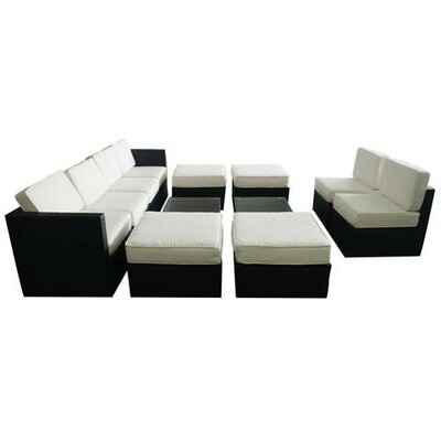 Pullman Wicker Patio 12 Piece Deep Seating Group with Cushion