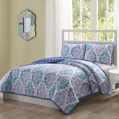 Beachmont 3 Piece Reversible Quilt Set Size: Queen