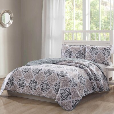 Wakarusa 3 Piece Reversible Quilt Set Size: Queen