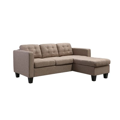 Kinnect Madison Reversible Sectional Upholstery: Sand