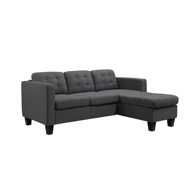 Kinnect Madison Reversible Sectional Upholstery: Slate