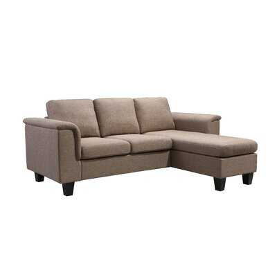 Kinnect York Reversible Sectional Upholstery: Sand