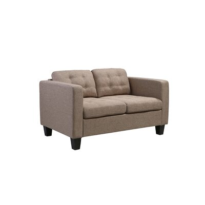 Kinnect Madison Loveseat Upholstery: Sand
