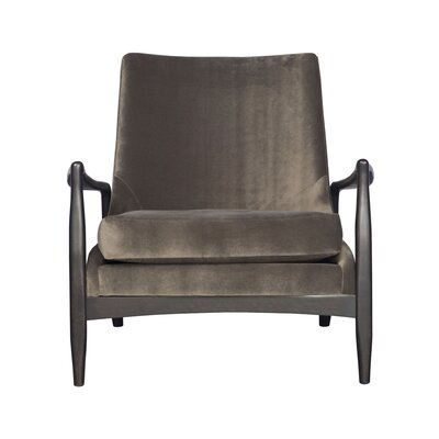 Pierce Armchair Upholstery: Fabric Marbella Gunmetal