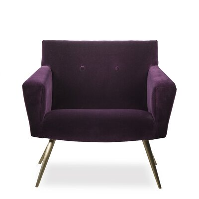 Kelly Occasional Armchair Upholstery: Fabric Vadit Deep Purple