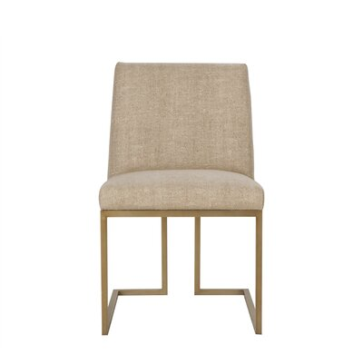 Ashton Upholstered Dining Chair Upholstery Color: Fabric Neighbor Chocolate