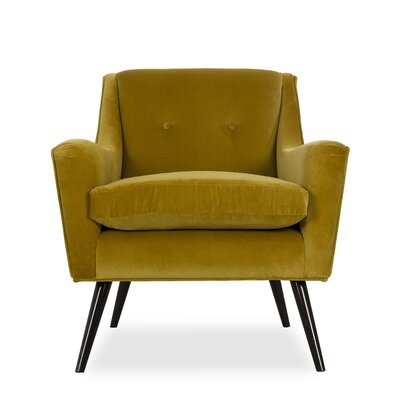 Marlow Occasional Armchair Upholstery: Fabric: Vadit Lemon