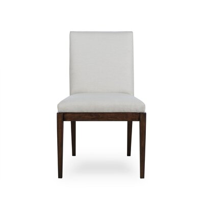 Miranda Upholstered Dining Chair Upholstery Color: Fabric Vadit Dark Gray