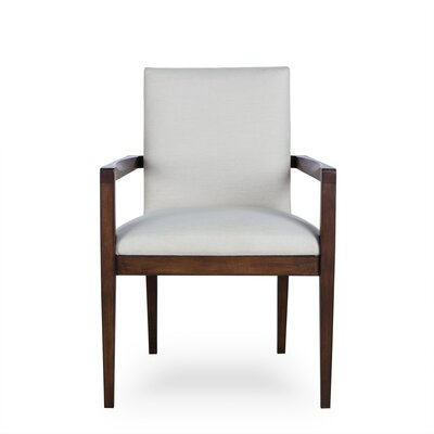 Miranda Upholstered Dining Chair Upholstery Color: Fabric Neighbor Chocolate